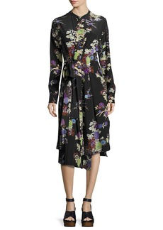 Isabel Marant Iam Bouquet-Print Silk Dress