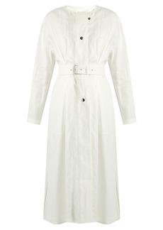 Isabel Marant Ivo collarless linen coat