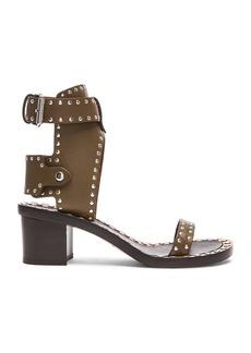 Isabel Marant Jaeryn Pomponius Calfskin Leather Sandals