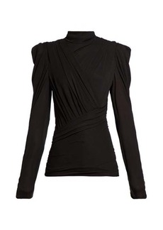 Isabel Marant Jalford ruched jersey top