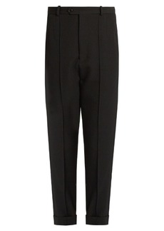 Isabel Marant Jo tapered-leg cropped wool trousers