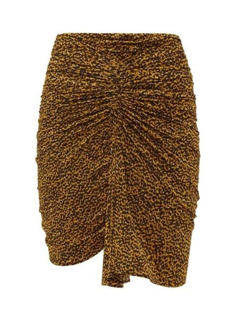 Isabel Marant Jomily ruched leopard-print mini skirt