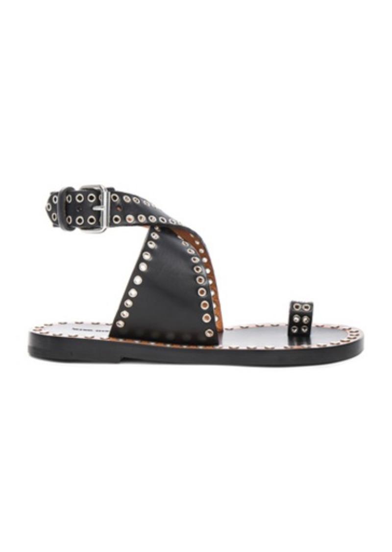 Isabel Marant Jools Eyelet Leather Sandals