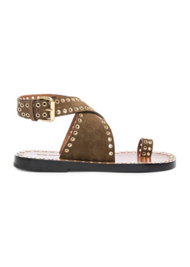 Isabel Marant Jools Eyelet Velvet Sandals