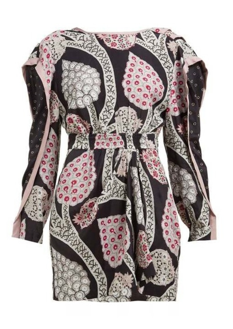 Isabel Marant Julia floral-print open-back dress