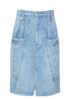 Isabel Marant Kalosia panelled denim midi skirt
