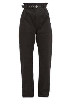 Isabel Marant Kelinny paperbag-waist cotton trousers