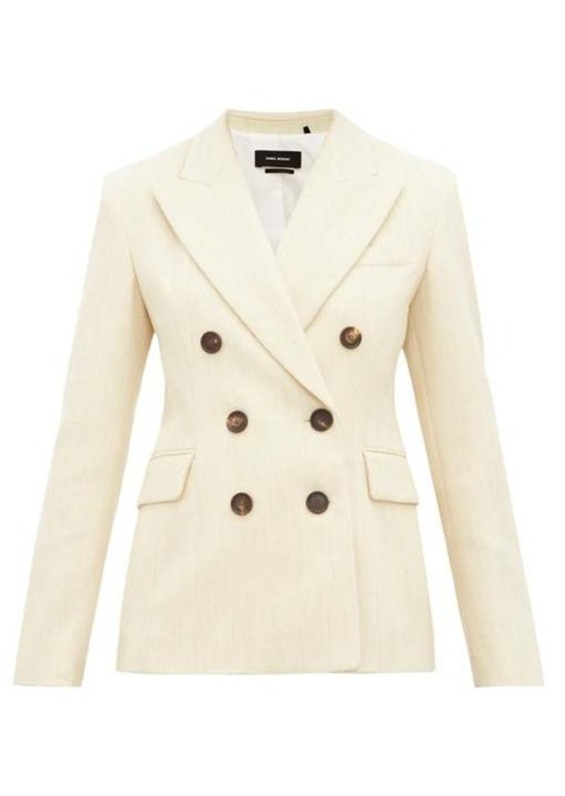Isabel Marant Kelsey double-breasted slubbed-twill blazer
