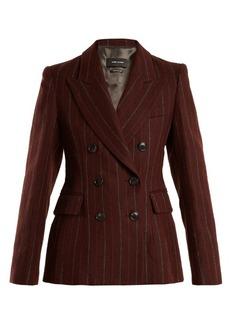 Isabel Marant Kelsey double-breasted striped wool-blend jacket