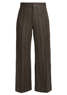 Isabel Marant Keroan striped flared cropped trousers