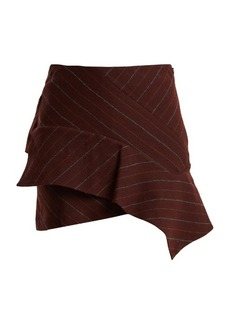 Isabel Marant Kimura striped linen-blend mini skirt