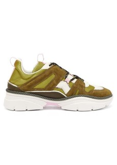 Isabel Marant Kindsay suede and canvas panelled trainers