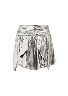 Isabel Marant Kira metallic silk-blend mini skirt