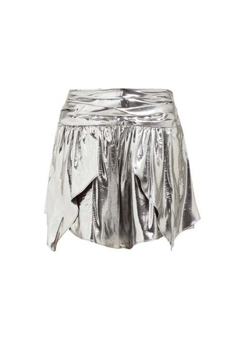 Isabel Marant Kira metallic silk-blend mini skirt