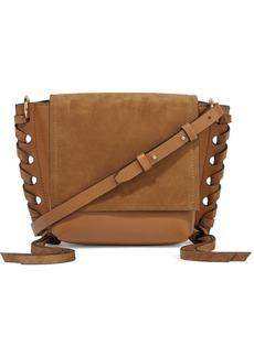 Isabel Marant Kleny Whipstitched Leather And Suede Shoulder Bag
