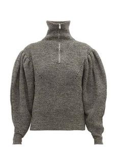 Isabel Marant Kuma puff-sleeve wool sweater
