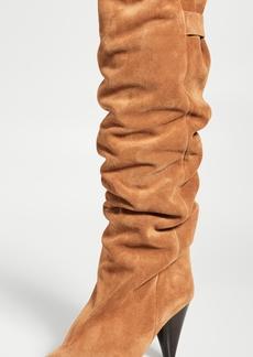 Isabel Marant Lacine Velvet Wrinkled Boots