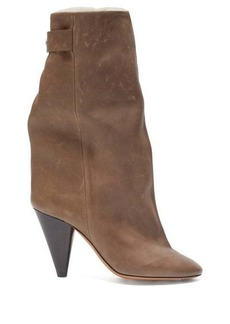 Isabel Marant Lakee shearling-lined leather boots