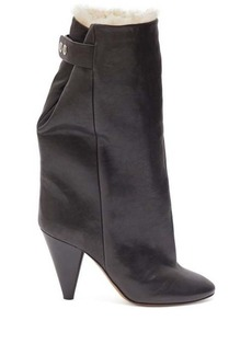Isabel Marant Lakfee shearling-lined leather boots