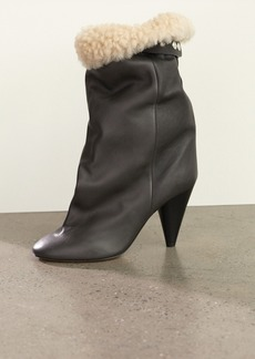 Isabel Marant Lakfee Shearling Wrinkled Boots