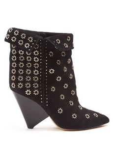 Isabel Marant Lakky embellished suede ankle boots