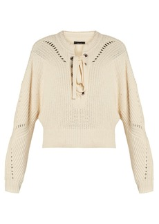 Isabel Marant Laley lace-up cotton-blend sweater