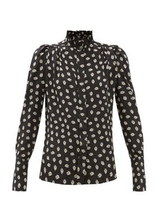 Isabel Marant Lamia high-neck floral-print silk blouse