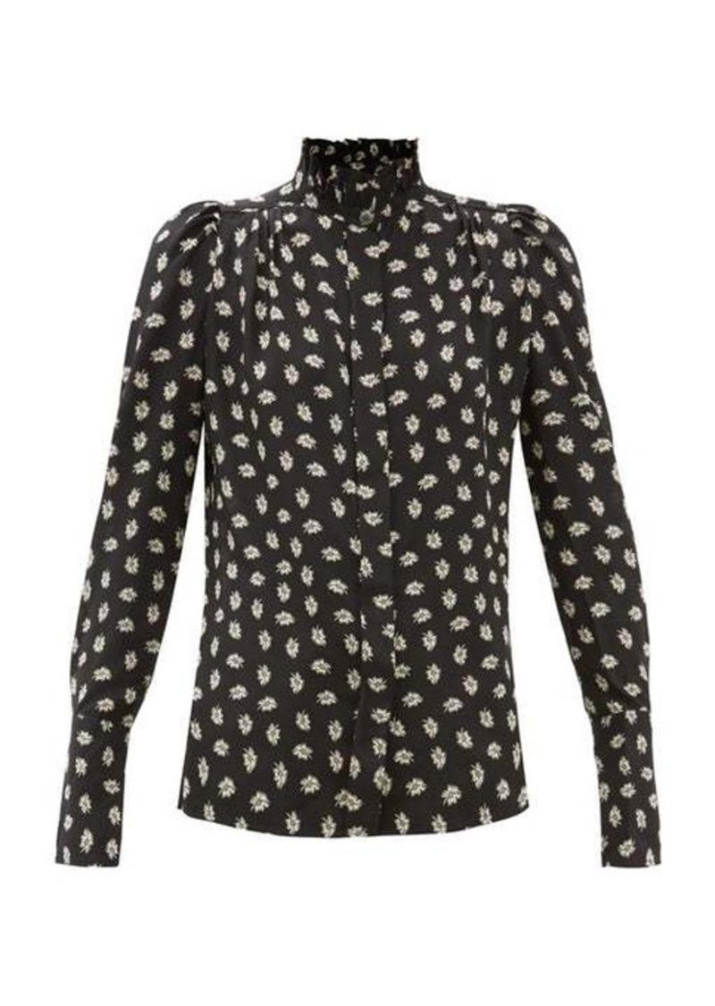 Isabel Marant Lamia high-neck floral-print silk blouse