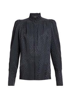 Isabel Marant Lamia pattern-jacquard silk-blend blouse