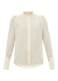 Isabel Marant Lamia ruffled crepe de Chine blouse