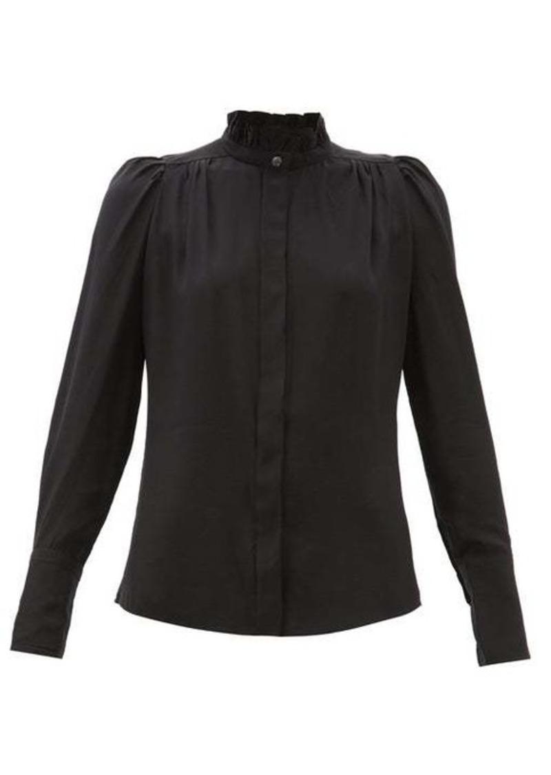 Isabel Marant Lamia ruffled silk crepe de Chine blouse
