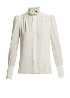Isabel Marant Lamia silk ruffled blouse