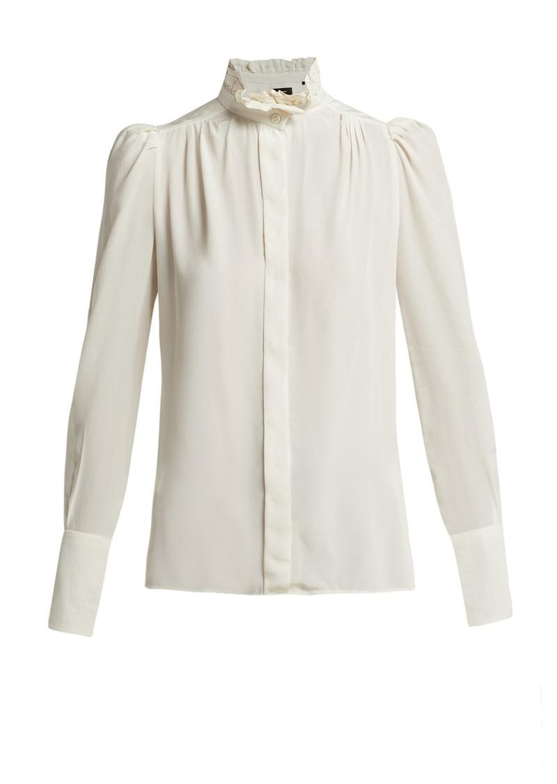 5c08614b78a6e Isabel Marant Isabel Marant Lamia silk ruffled blouse Now  469.00
