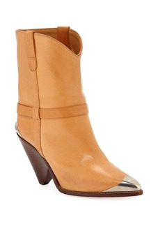 Isabel Marant Lamsy Low Leather Western Boots