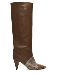 Isabel Marant Laomi snake-effect leather knee-high boots