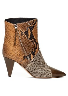Isabel Marant Latts snake-effect leather ankle boots