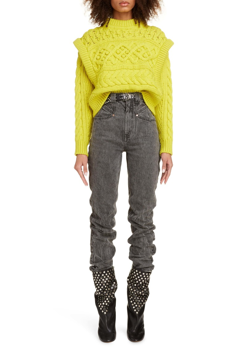 Isabel Marant Layered Cable Wool Sweater