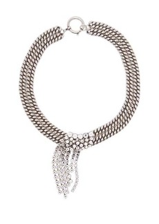 Isabel Marant Layered crystal and chain necklace