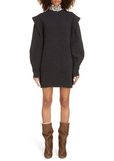 Isabel Marant Layered Long Sleeve Cashmere & Wool Sweater Dress