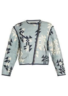 Isabel Marant Lazel geometric-print cropped cotton jacket