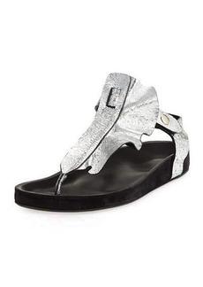 Isabel Marant Leakey Ruffled T-Strap Sandal