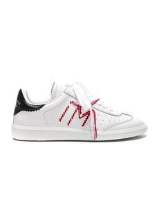 Isabel Marant Leather Bryce Contrast Stitched Sneakers