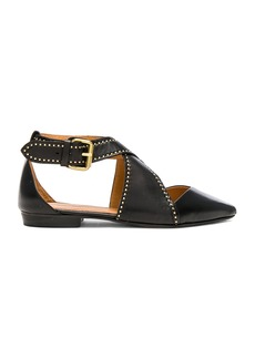 Isabel Marant Leather Lymoa Ankle Strap Flats