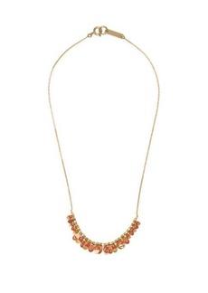 Isabel Marant Leaves enamel and metal necklace