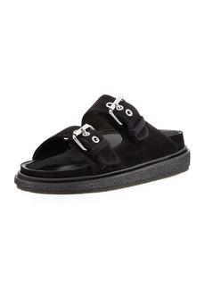 Isabel Marant Ledkin Double-Buckle Slide Sandals