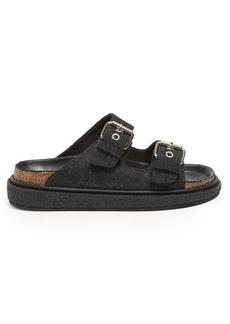 Isabel Marant Ledkin felt flat sandals
