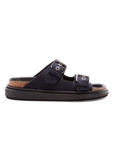 Isabel Marant Ledkin flannel flat sandals