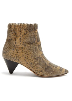 Isabel Marant Leffie snake-effect leather ankle boots