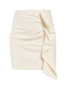 Isabel Marant Lefly asymmetric ruffle mini skirt