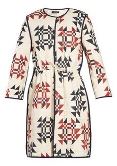 Isabel Marant Leist geometric-print tie-waist coat